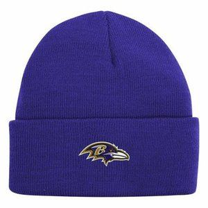NFL BALTIMORE RAVENS Beanie Hat YOUTH ONE SIZE